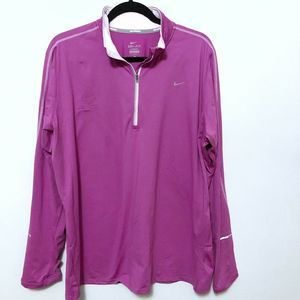 Nike Dri Fit Women's 2X Pink Quarter Zip